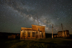 Wheaton & Hollis at Night (Jeffrey Sullivan) Tags: bodie state historic park milkyway bodiestatehistoricpark abandoned american wild west mining ghost town monocounty bridgeport california usa landscape nature night photography workshop canon eos 6d photo copyright 2017 jeffsullivan june allrightsreserved easternsierra travel