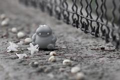 365-185 (Letua) Tags: hippo bw bn verja camino flores toy pathway fence flowers ctt 7dwf crazytuesdaytheme fullhouse