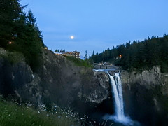 Moonrise over the Salish (MissLydia) Tags: summer snoqualmiefalls wastate twinpeaks snoqualmie july nature 2017 theowlsarenotwhattheyseem staycation waterfall
