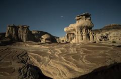 Bisti Badlands in New Mexico (Explored) (BartCam) Tags: bisti newmexico moonlight desert swirls rocks houdous