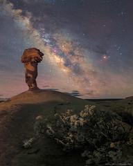 Against the night (Ben_Coffman) Tags: bencoffman bencoffmanphotography galacticcenter galacticcore galaxy landscape longexposure milkyway moab nightphotography panorama southernutah starphotography stars utah verticalpanorama