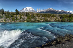 Paine river in Torres del Paine (marko.erman) Tags: patagonia magellanes chile andes cascade waterfall river nature beautiful pristine towers mountains peaks glaciers landscape panorama outside pov travel popular biosphere unesco sony paysage lac torresdelpaine