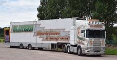 DS8061  (V885DRM)  Slaters Family Funfair, Greenlaw (highlandreiver) Tags: ds8061 ds 8061 v885drm v885 drm slaters family funfair greenlaw scania truck lorry wagon haulage transport carlisle cumbria