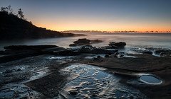 Morning mist (Rod Burgess) Tags: cookiesbeach nsw southdurras sunrise canon1635f4l canoneos5dmarkiv mist australia morning dawn rocks