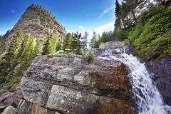 Falls at Lake Agnes (John Andersen (JPAndersen images)) Tags: banff beehive canada150 forest hiking lakeagnes mirrorlake mountain waterfall