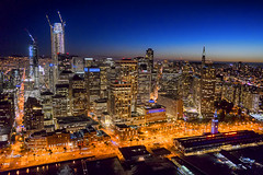 Seduced by the City (TIA International Photography) Tags: sanfrancisco sf san fran california northern city urban landscape night blue golden hour aerial illumination buildings skyscrapers view financial district commerce commercial business evening twilight downtown center centre transamerica salesforce tower pyramid 345 555 bay cityscape tosinarasi tia ©tiainternationalphotography metropolis bayarea dusk sunset embarcadero ferry landmark construction skyline glow terminal port waterfront promenade esplanade