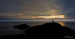 Dusk At Strumble Head (DanRansley) Tags: britain carregonnenbay danransleyphotography greatbritain pembrokeshire pencaer pencaerpeninsula strumblehead uk wales ynysmeicel ynysonnen coast dusk evening headland island landscape lighthouse nature sea sunset