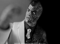 "Two Face Black and White (Garcia ""Imagética"" Junior) Tags: batman actionfigure collection twoface deathstroke harleyquinn arkham coleção duascaras toy photography fotografia brinquedo"