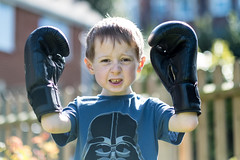 The Boxer - DSCF2059 (s0ulsurfing) Tags: s0ulsurfing 2017 march isle wight william boxer boxing garden boy play imagination fuji xseries xt2