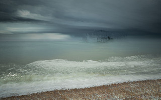 Storm clouds over an abstract West Pier