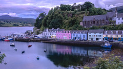 Portree (charles chai) Tags: portree scotland isle skye highland uk town golden hour late sunset sundown pink colour landscape adventure trip tour lonelyplanet world