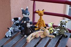 IMG_0306 (korova08) Tags: crochet amigurumi tigre girafe monstre gentil loup singe