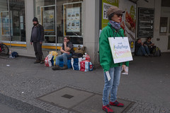 Pedicures for the homeless. Karl-Marx-Straße, April 2017. (joelschalit) Tags: berlin germany karlmarxstrase neukölln deutschland homeless poverty inequality signs advertizing fujifilmx100f fujifilm lidlbillboard