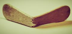 Wannabe - Macro Monday 'Broken' (177/365) (iratebadger) Tags: nikon nikond7100 iratebadger image indoors iso100 inside macro macromonday project365 blur bokeh wood view vignette vintage splinters d7100 35mm