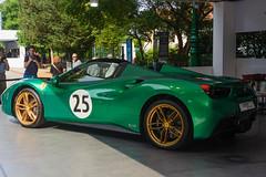 The Green Jewel (an4cron) Tags: 365p2 coloredition auto 2017 davidpiper thegreenjewel motor 488 car ferrari spider torino parcodelvalentino salone concept show