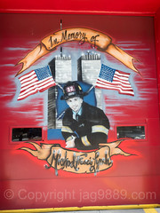 """""""In Memory of Michael Lynch"""" Door Painting, FDNY Ladder 32, Olinville, Bronx, New York City (jag9889) Tags: 2017 20170614 911 9112001 allamericacity architecture art artwork bravest bronx building collapse doorpainting e062 eastbronx fdny firedepartment firedepartmentofthecityofnewyork firehouse firestation firefighter firstresponder gang groundzero gunhill house memory ny nyc newyork newyorkcity newyorkcityfiredepartment newyorksbravest olinville outdoor painting terroristattack thebronx usa unitedstates unitedstatesofamerica wtc whiteplainsroad worldtradecenter jag9889"""