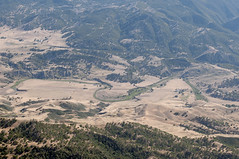 Aerial view of the San Andreas Fault cutting meanders in the San Benito River, San Benito County, California (cocoi_m) Tags: aerialphotograph aerial fault sanandreasfault meander sanbenitoriver sanbenitocounty california nature geology geomorphology