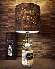 Kraken Rum Bottle Lamp with Barbed Wire Shade Upcycled (Wattbottles) Tags: kraken rum bottle lamp lighting design barbed wire etsy steampunk boho bohemian decor handmade crafts upcycled upcycle art