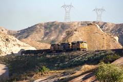 Working up the Hill (flannrail) Tags: unionpacific csx bnsf train cajonpass cajon california mountain railroad