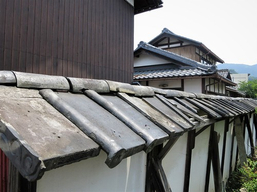time travel wall, Nakasendo at Toriimoto-juku (Hikone)