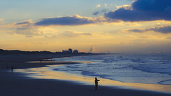 Dutch Sunset Reflections (Jop Hermans Photography) Tags: northsea noordzee nederland thenetherlands sunset sunrise zonsondergang holland jophermans top top10 top20 coastline beach orange blue skyporn scheveningen thehague kijkduin