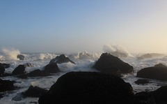 Wedding Rock (elisecavicchi) Tags: waves pacific ocean sea spray water west coast rocks outcropping shore stacks beach wedding rock sunrise dawn early morning first light mood explore walk california ca illuminated humboldt county patricks point state park