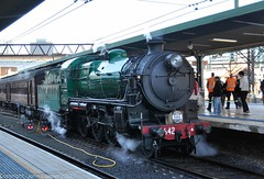 Transport Heritage Expo 2017 - Heritage Locomotive 3642 patiently waits to run the last trip of the day (john cowper) Tags: 3642 nswrailmuseum transportheritagensw transportheritageexpo centralrailwaystation redfernrailwaystation lasttrip nswrailways nswgr sydney newsouthwales
