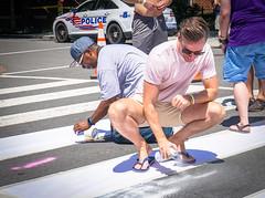 2017.06.10 Painting of #DCRainbowCrosswalks Washington, DC USA 6352