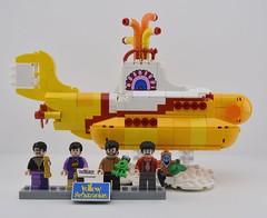 LEGO 21306 Yellow Submarine🐠 (Alex THELEGOFAN) Tags: lego legography minifigure minifigures minifig minifigurine minifigs minifigurines the beatles jeremy john paul ringo yellow submarine ideas 21306 cloud love orange