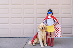Saving the world one backyard at a time (Elizabeth Sallee Bauer) Tags: goldenretriever active animal brave cape child childhood companion companionship determination dog duo friendship fun girl goggles hero kid mask outdoors outside pet playing preschooler puppy savetheday saving strength superhero team teamwork youth