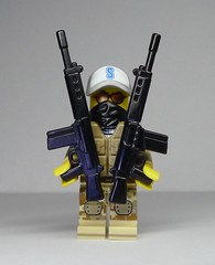 BrickArms NATO Battle Rifle - Duel Wielded! (enigmabadger) Tags: brickarms lego custom minifig minifigure fig weapon weapons accessory accessories combat war production fan choice winner fn fal assault rifle gun