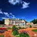Palace with beautiful garden
