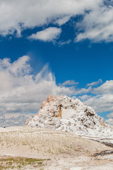 White Dome Geyser erupts