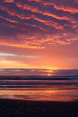 Seaside Sunset (russ david) Tags: seaside sunset or oregon beach ocean clouds clatsop county pacific waves april 2017