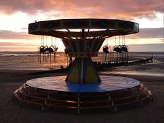 Cleethorpes beach ride (Peanut1371) Tags: cleethorpes beach sunrise swing ride