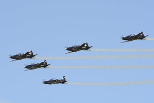 The Black Falcons - with Beechcraft T-6 Texan II aircraft