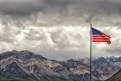 Happy Fourth of July! (Philip Kuntz) Tags: fourthofjuly 4thofjuly independenceday flag america denali denalinationalpark alaska