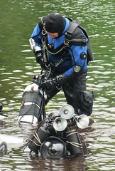 Gearing up (chemsuiter) Tags: quarrydiver drysuit dive