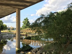 Concho River in San Angelo, Texas (Diann Bayes) Tags: sanangelo texas conchoriver water westtexas skies blue bridge