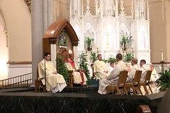 Candidates for Ordination listen to homily