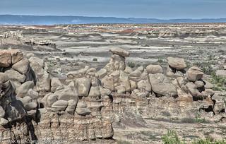 Tortured landscape in the Bisti Wilderness