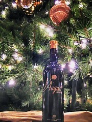 Under the Christmas Tree (cb|dg photo) Tags: christmas wine bottle winebottle augustbriggs present underthetree fairmont sanfrancisco christmastree