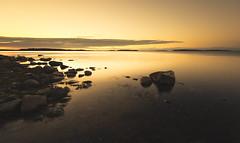 Sunrise of Skatanniemi (Bunaro) Tags: sunrise dawn sun rise morning skatanniemi vuosaari helsinki suomi finland visitfinland nature landscape waterscape sea rock beach water
