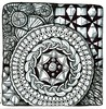 Ancient Shield (molossus, who says Life Imitates Doodles) Tags: zentangle zentangleinspiredart thegreatzentanglebook review