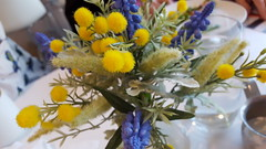 Swedish Bouquet (Mamluke) Tags: swedish color yellow blue flowers flower fleurs fleur bouquet mamluke vase small blume fiore flor plant vegetation flora summer sommer été zomer estate verano