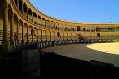 SOL Y SOMBRA (ameliapardo) Tags: sol sombra plazadetoros maestranza ronda andalucía málaga españa ruedo arena fujixt1
