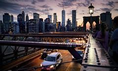 Brooklyn Bridge - Sunset walk (kareszzz) Tags: newyork nyc cityscape landscape brooklynbridge brooklyn bridge 2017 travel sunset june summer usa traffic people citylights urbanphotography