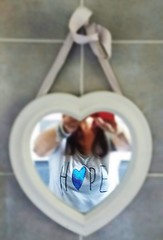 What I have in my heart (nathaliedunaigre) Tags: selfportrait autoportrait femme woman eilahtan coeur heart hope espoir miroir mirror reflet reflection