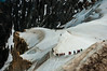 Cresta Aiguille Mid (faltimiras) Tags: chamonix france alps alpes montblanc tacul maudit trekking hikking alpinismo alpinism alpinisme serac gel ice hielo nieve cielo montaña montañas moutain mountains jorasses aiguille midi