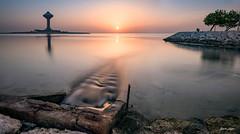 Khobar Corniche Tower (markjasminphotography) Tags: landscape seascape morning sunrise wide dessert serenity corniche park khobar ksa markjasmin cornichegrapher